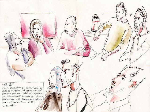 © Antonio Fernandez la Torre – Möte med den sk 'advocacy-gruppen' i deras café utanför sjukhuset